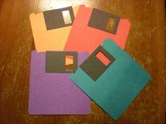 Floppy disc door decs. (RA door decor dec decs name tag tags dorm reslife)
