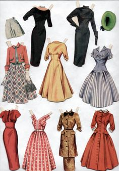 20 Ideas Diy Clothes Patterns Free Printable Paper Dolls For 2019 Paper Dolls Clothing, Doll Clothes, Paper Dolls Dresses, Diy Clothes Patterns, Sewing Patterns, Janet Leigh, Paper Dolls Printable, Vintage Paper Dolls, Paper Toys