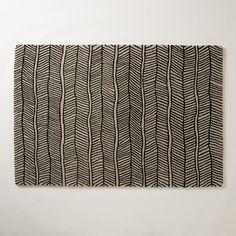herringbone rug instead of floor