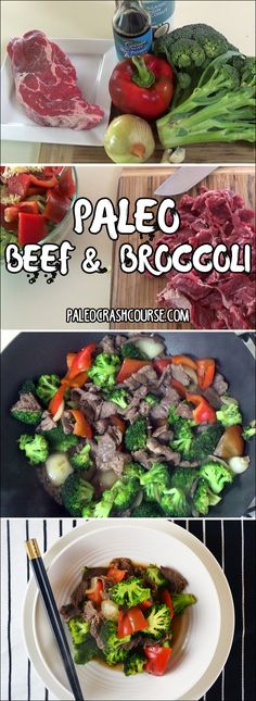 A paleo beef and broccoli recipe to take you back to those days of amazing Asian takeout food. This rich stir fry not only tastes great but is also pretty healthy for you. Broccoli Stir Fry, Broccoli Beef, Broccoli Recipes, Beef Recipes, Cooking Recipes, Healthy Recipes, Shrimp Recipes, Healthy Meals, Paleo Whole 30