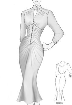 1930s inspired dress by Amber Middaugh