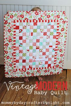 Mommy by day Crafter by night: August 2012: a quilt with my stash of Vintage Modern fabric. I made it using 2 mini charm packs which are squares that are pre cut to be 2.5x2.5 inches instead of the regular 5x5 inch squares.