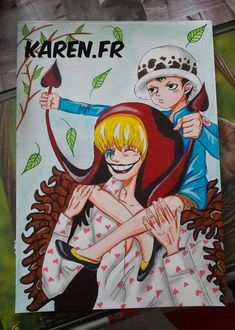 Fan Art de Corazon et Trafalgar D Water Law...(One Piece)