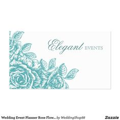 Wedding Event Planner Rose Flower Baby Blue