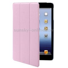 brand new 3-fold Litchi Texture Smart Cover with Holder for iPad mini pink