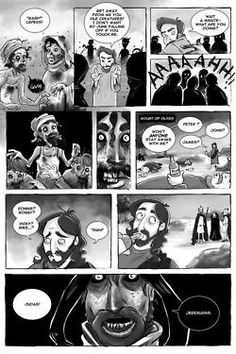 As a special Easter treat, I'm going to give you the comic that I wrote a few years back for the Slave Labor Graphics anthology,Fat Chunk Volume 2: Zombie! I wrote a few shorts for it but this was my favorite little silly one. Art by the amazing Jenny Romanchuk (The Zombie Hunters). Enjoy and watch out for those lepers! (Page 2)