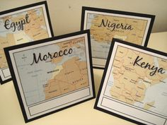 International Theme - tables named after places you've been or places that are on your bucket list as a couple!