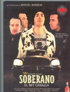 """Cartel de la cortometraje """"Soberano. El Rey Canalla"""" de Miguel Bardem, protagonizado por Roberto Álamo. / Poster for the short film  """"Soberano. The Rogue King"""" by Miguel Bardem, starring Roberto Álamo."""