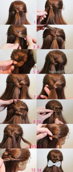 Steps for hairstyle