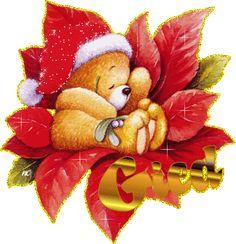 animation teddy bears | Animated Christmas Teddy Bear