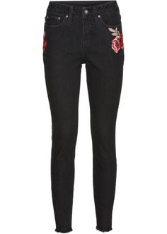 Jeans, RAINBOW, black denim