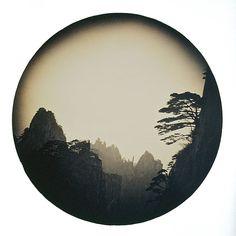 silouhette for circular cliff tattoo inspiration han lei: yellow mountain | minimal exposition