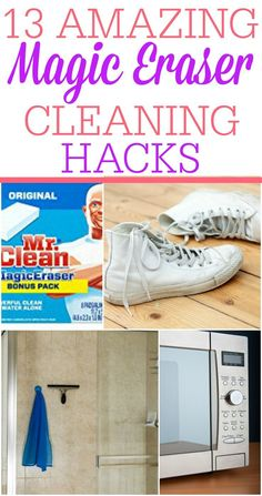These Magic Eraser cleaning hacks are AMAZING! Who knew you could use a magic eraser to clean like this. Cleaning with a magic eraser is awesome!