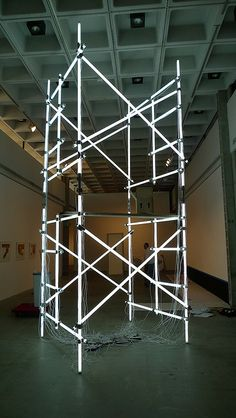Alejandro Almanza Pereda - Ideational Architectures - Installation in Progress by Marshall Astor - Food Fetishist, via Flickr