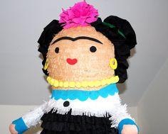 Frida Doll Pinata Birthday Party Handmade  by PoppinPinatasandmore