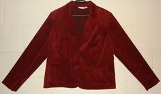New Women Corduroy blazer Cranberry color. Size 18. By Studio Works #StudioWorks #Blazer