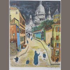 Ludwig Bemelmans (American, 1898-1962); Sacre Coeur, from Madeline;