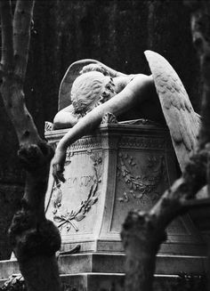 My guardian angel right now! - Angel of Grief is an 1894 sculpture by William Wetmore Story which serves as the grave stone of the artist and his wife at the Protestant Cemetery in Rome. Gray Aesthetic, Black And White Aesthetic, Aesthetic Vintage, Arte Obscura, Slytherin Aesthetic, Cemetery Art, Cemetery Statues, Angel Statues, Buddha Statues