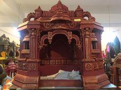 Mandir Decoration, Ganapati Decoration, Decoration For Ganpati, Ganesh Chaturthi Decoration, Styrofoam Art, Ganpati Festival, Pooja Room Design, Temple Design, Buddhists