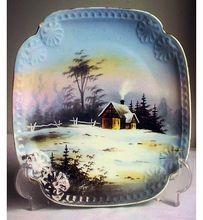 Vintage Leonard Vienna Cabinet Plate Hand Painted Porcelain Austria ca. 1917