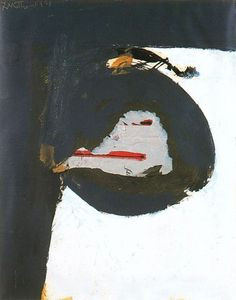 Workman:  Robert Motherwell (January 24, 1915 – July 16, 1991) American painter, printmaker and editor. He was one of the youngest of the New York School (a phrase he coined), which also included Jackson Pollock, Mark Rothko, Willem de Kooning, and Philip Guston.