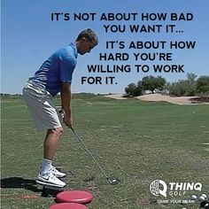 THINQ Golf | Motivational Golf Quote | Game Your Brain | www.THINQGolf.com