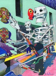 """Saatchi+Online+Artist+daniel+levy;+Drawing,+""""Dia+de+Muertos""""+#art"""