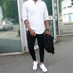Black & White Outfit For Men Street Style Inspiration Black And White Outfit For Men, Men's Fashion Black And White, White Outfits, Black White, Men's Outfits, Black Men, Best Mens Fashion, Mens Fashion Suits, Blazer Fashion