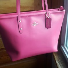 Coach City Zip Tote NWT Color is Dahlia Gorgeous!  Perfect for Spring and Summer Coach Bags Totes