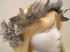 Silver Leaves, Flower Crown, Head Wreath, Silver, 1920s, Flapper, Game of Thrones, Elf, Flower Girl, Tiara, Greek, Art Deco, Roman, Geek