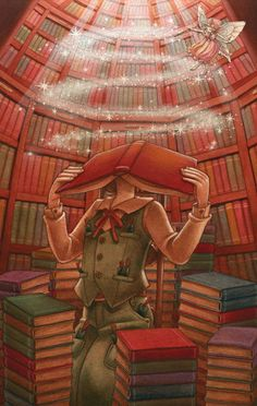 This is the MAGIC. Experience the magic of a good book. (Source: pixiv.net )