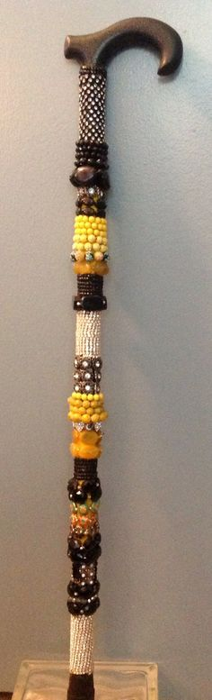 Decorative Beaded Cane and Walking Stick by CitizenCanes on Etsy, $160.00