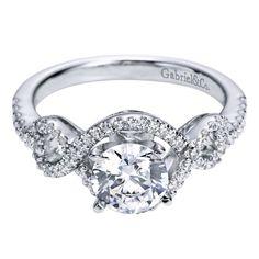 Infinity Halo White Gold Diamond Engagement Mounting