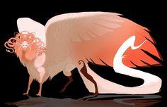 custom sphinx by Grimmla Weird Creatures, Fantasy Creatures, Mythical Creatures, Creature Concept Art, Creature Design, Riders Of Icarus, Fantasy Rpg, Dragon Art, Character Design Inspiration