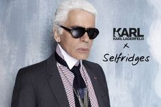 Karl wearing his iconic black sunglasses