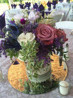 Rustic elegance Furst Florist Centerpiece #FurstEvents #DaytonWeddings