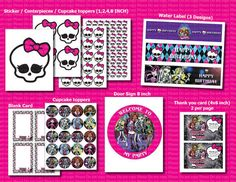 INSTANT DL-Monster High- Printable Birthday party Package (NON Personalized)
