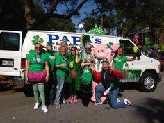 Papa's BBQ Staff.  Tybee St. Patricks Day Parade.