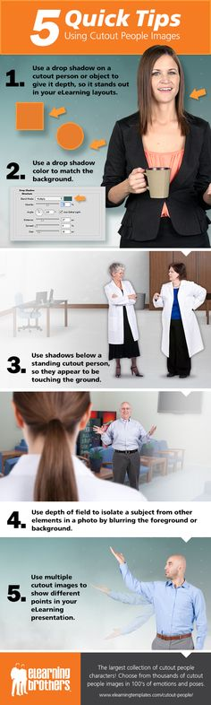 5 Tips For Using Cutout People Images Infographic - http://elearninginfographics.com/using-cutout-people-images-infographic/
