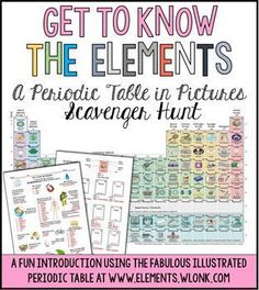Periodic table printables pinterest periodic table activities this is a worksheet that goes with the beautifully illustrated periodic table at http urtaz Choice Image