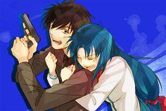 Anime: Full Metal Panic!  Personagens: Sousuke Sagara e Kaname Chidori
