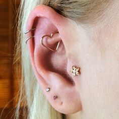 """The tragus is all about placement. Sometimes I like to do a double tragus, but…"