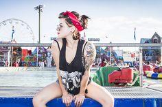 Suicide at the Fair  #PhotosByIreland #Photography #Fair #Festival #BumberBoats #Tattoos #Bandanna