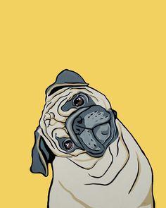 Custom Pet Portrait by MandasArtStudio on Etsy, via Etsy.