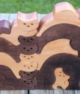 wooden cat and mouse puzzle