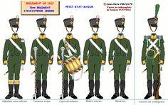 Fanteria leggera 3° Rgt. testa della colonna 1812