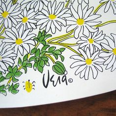 Daisies placemat.  I had Vera daisy sheets when I was little. I loved them so much.