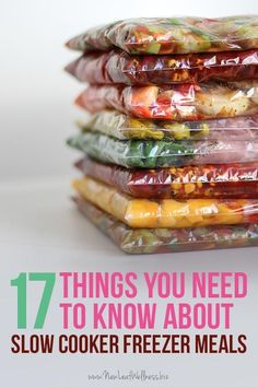 17 Things You Need To Know About Slow Cooker Freezer Meals. Great tips! This sounds like such an easy way to make dinner. A great way to save money too.
