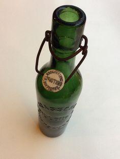 brasserie chateaurouxin vihreä korkillinen pullo . korkeus 30 cm