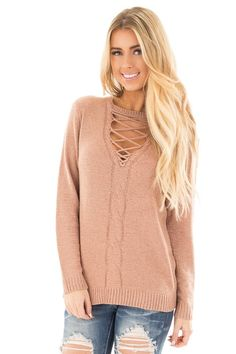 Lime Lush Boutique - Dusty Blush Knit Top with Lace Up Cut Out Neckline , $46.99 (https://www.limelush.com/dusty-blush-knit-top-with-lace-up-cut-out-neckline/)